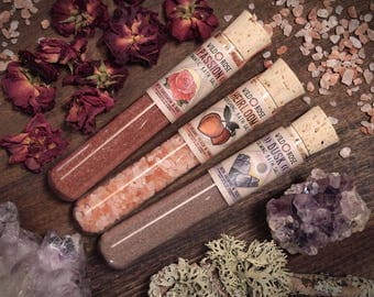 Bath Salt Sampler Set - PASSION HEIRLOOM DUSK - Self Care Gift for Her Himalayan Salt Detox