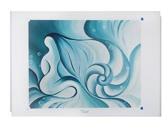 YOGA ART Greeting Card TWIST Pose- 5x7 from Original Oil Painting, Yoga studio decor