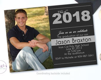 Graduation Invitation, Graduation Party Invitations, High School Graduation Announcement, Graduation Announcement College, Graduation 2017