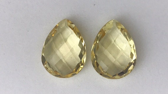 Green Peridot, Light Blue Topaz & Light Yellow Citrine ... |Light Yellow Gemstone Earrings