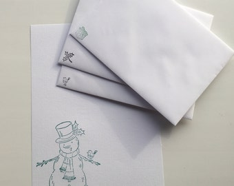 Snowman Letter Writing Set