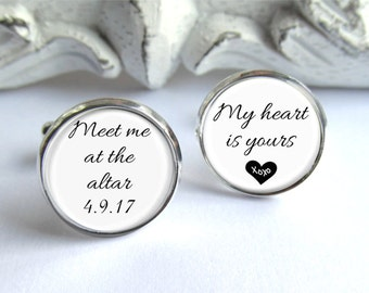 Groom Cufflinks - Gift For Groom - Mens Cuff Links