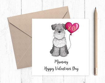 Schnauzer Valentine Card - Schnauzer - Valentine card - ideal for dog lovers - free uk shipping