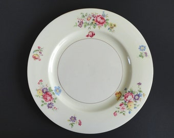 Theodore Haviland Pasadena 10 Inch Dinner Plates Set of 6 Floral Bouquet Cottage Vintage Made In the U.S.A.