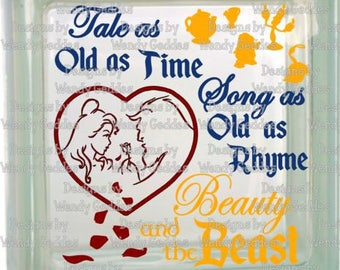 SVG -Beauty and the Beast Inspired - Tale as old as time, Song as old as rhyme - Digital file - INSTANT DOWNLOAD - svg, png, pdf, silhouette