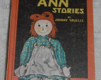 Raggedy Ann Stories by Johnny Gruelle Hardcover Vintage Book