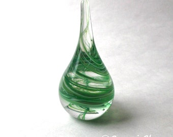 Paperweight / Ring Holder - Green Swirl :  DISASTER RELIEF