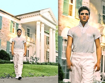 """ELVIS Presley At Graceland • 1957 • A Classic H Q - Portrait POSTER & Photographic Print • 1 - 16x20"""" and  11x14"""" Are Ready To Ship NOW!"""