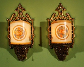 "Vintage Lightolier ""Contstantine"" Sconces, ca 1928"