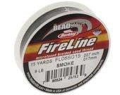 8 lb Fireline Thread, 15 Yard Spool, 8 lb Smoke Fireline, Fireline Spool, Strong Weaving Thread, Gray Weaving Thread, Seed Bead Weaving