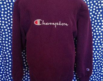 Late 80's, early 90's Champion reverse weave sweatshirt, fits like a long large