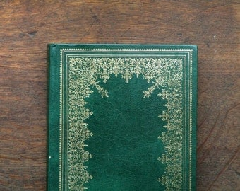 Oscar Wilde book The Picture of Dorian Gray bound in green faux leather