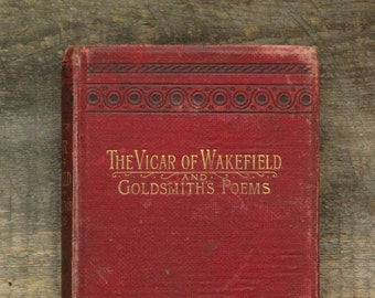 Pessimist's gift, Oliver Goldsmith book The Vicar of Wakefield with Poems