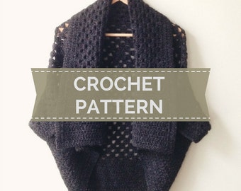 CROCHET PATTERN - Duo Two-Way Shrug Pattern - PDF Instant Download