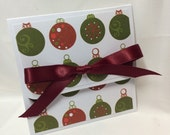 Fancy Ornaments Christmas Gift Card Holder