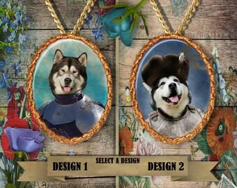 Alaskan Malamute Jewelry - Pendant - Brooch  – Dog Jewelry -Dog Jewellery – Dog Pendant – Dog Brooch by Nobility Dogs