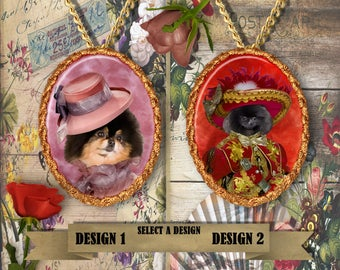 Pomeranian Jewelry Personalized Dog Jewelry Pomeranian Dog Charm Pomeranian Pendant Pomeranian Gift Silver or Gold Plated Nobility Dogs