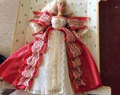 Vintage Christmas Barbie - Hallmark 1997 - Collector Series - 10th Anniversary - Special Edition - Blonde - New On Cardboard - Barbie Dolls