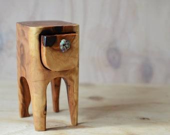 Snappy Gum box. Spinifex Walker box. wooden box. wood box. glass drawer knob. keepsake box. Western Australia. long leg box