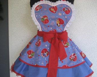 Valentine Retro Heart apron