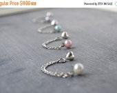 SALE Pearl Double Lobe Pierce Earrings (Set of 2)