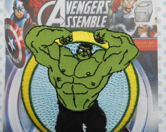 The Incredible Hulk Avengers Marvel Iron on Applique Embroidered Thermo-Adhesive Patch