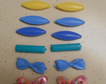 Vintage 80s Plastic Barrettes Lot of 14