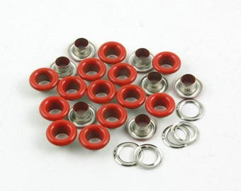 Size: 8*4*4mm (OD * ID * Height) Red Round Eyelet Grommet (RED-RG08)