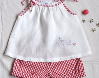 Linen and Gingham Set