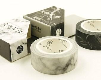 Marble Set - Japanese Washi masking Tape Set - 2 rolls - 7.6 yard (each roll)