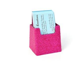 Glitter Vertical Business Card Holder.  Bling Card Holder.  Vertical Business Card.  Pink.  Sparkle.  Unique.