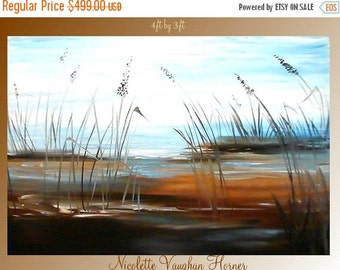 SALE HUGE Original  4ft by 3ft  oil/acrylic abstract   by Nicolette Vaughan Horner