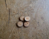 3/4 Inch Wooden Tree Branch Buttons, Arbutus Buttons, Exotic Wood