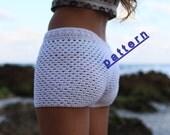 Crochet  shorts pattern Lace crochet short  PDF Tutorial Pattern white crochet shorts  pattern Beach wear  Summer short pattern