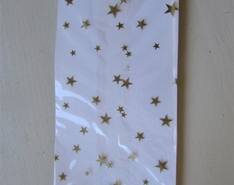 "10 GOLD STARS Cello Bags (3-1/2"" x 2"" x 7-1/2"")"