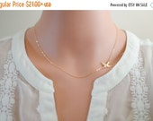 SALE Silver or Gold Minimalist Necklace - Bird Jewelry - All 14k Gold Filled or Sterling Silver
