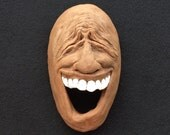 Ceramic Face Hanging Wall Sculpture