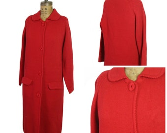 1960s Knit Wool Coat