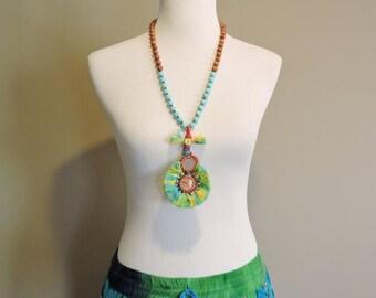 CYBER MONDAY SALE Banjara Tassel Necklace, Kuchi Tribal Indian Necklace, Long Beaded Tassel Necklace, Bohemian Jewelry, Boho Gypsy Jewelry T