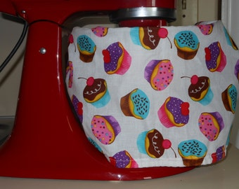 CUPCAKE Kitchen Aid Bowl Cover, Handmade, Covers