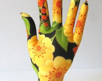 Sunny Yellow Fabric Hand Jewerly Display POPULAR Style HAND-Stand