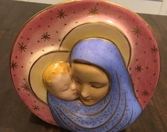 Madonna and christ child Planter vintage