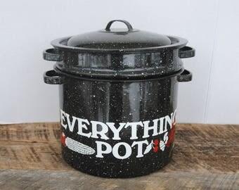 Vintage Everything Pot 5 Piece Enamel Set