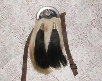 Scottish Kilt Sporran - Horse Hair - Leather - Child/Youth