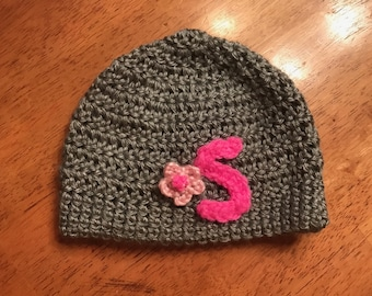 Crocheted Initial Baby Hat