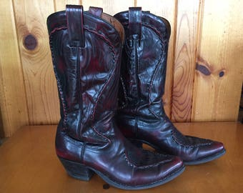 Vintage Dan Post Ladies Cowboy Boots Size 8.5