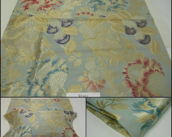 "Verel De Belval -Luxury Fabric- Remnant- pc w 27""x28""L L'ARBRE A PIVOINES- Upholstery Brocade -Viscose/Silk-Free Shipping"