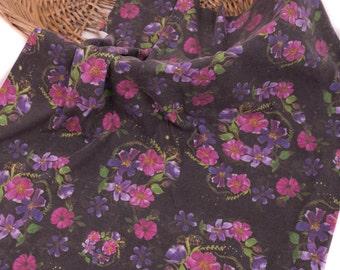 Black Floral Baby Blanket , Floral Swaddle Blanket  , Organic Swaddle Blanket  , Organic Baby Blanket , Newborn Girl Blanket , Baby Bedding