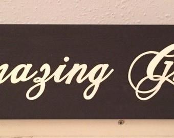 Amazing Grace Sign , Amazing Grace Wood Sign, Amazing Grace Wall Art
