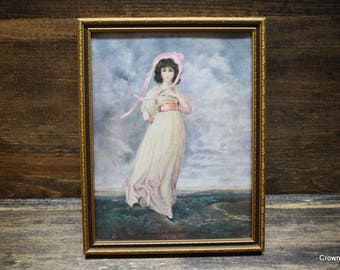 """Miss Pinkie - Framed Print - 5 1/2"""" x 7"""" - Home Decor - Wall Art - Wall Hanging - by Sir T. Lawrence"""